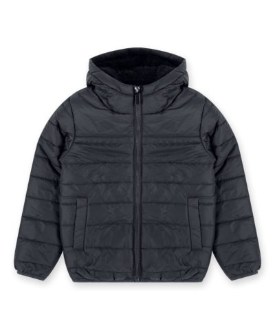 Boys Black Lightweight Puffer Jacket for Little Boys and Big Boys